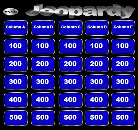 sample jeopardy powerpoint template   documents