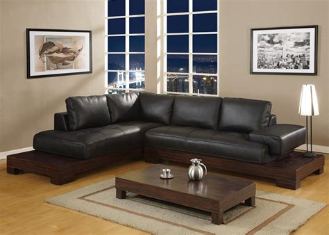 low profile sectional sofa small apartment living room design with oak coffe table
