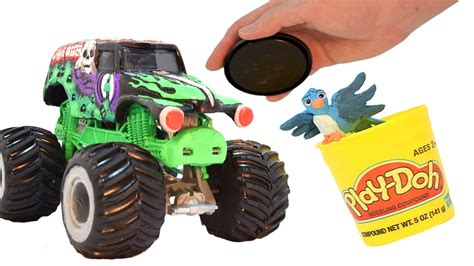 grave digger monster truck videos youtube grave digger monster truck play doh stop motion claymation
