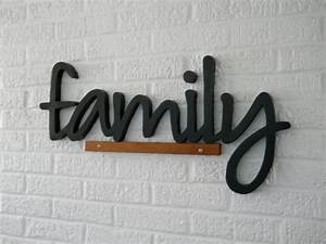 all wood family letters eight inch tall letters black With family wood letters