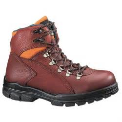 womens boots for work 39 s wolverine durashocks 6 quot waterproof steel toe eh work boots brown 88008 work boots