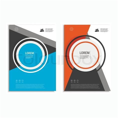 annual report cover in abstract design vector free vector leaflet brochure flyer template a4 size design