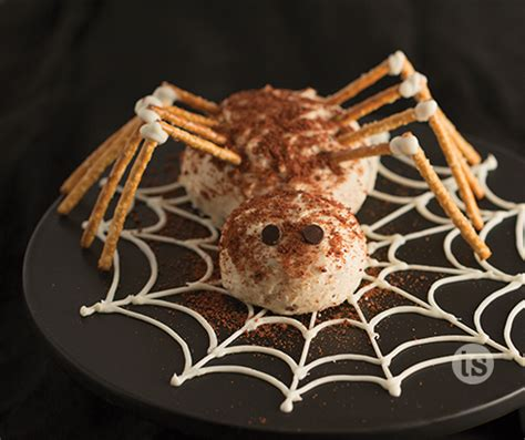 spooky spider cheese ball tastefully simple