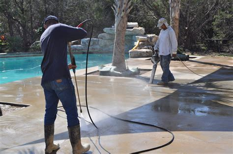 Procedure on how to acid wash or acid etch concrete