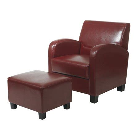 Office Chair Ottoman by Office Metro Crimson Faux Leather Club Chair With