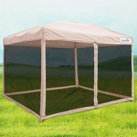 quictent  ez pop  canopy  netting screen house instant gazebo party tent mesh sides