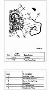 Could You Please Show A Diagram For The Routing Of The Serpentine Belt In A 2000 Lincoln Continental