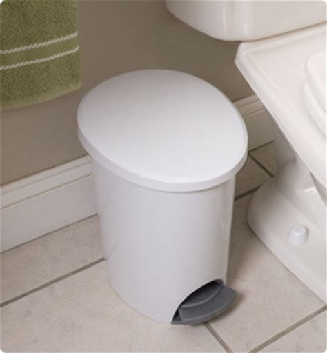 small bathroom wastebasket with lid rexite status waste basket with flip lid aluminium