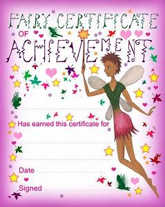 Fairy Certificate of Achievement Rooftop Post Printables
