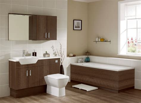 Walnut Bathroom Furniture-contemporary-bathroom