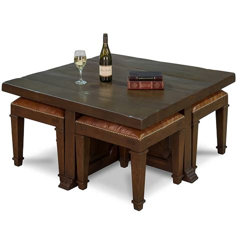 Stool Table by Coffee Table With 4 Nesting Stools So That S Cool