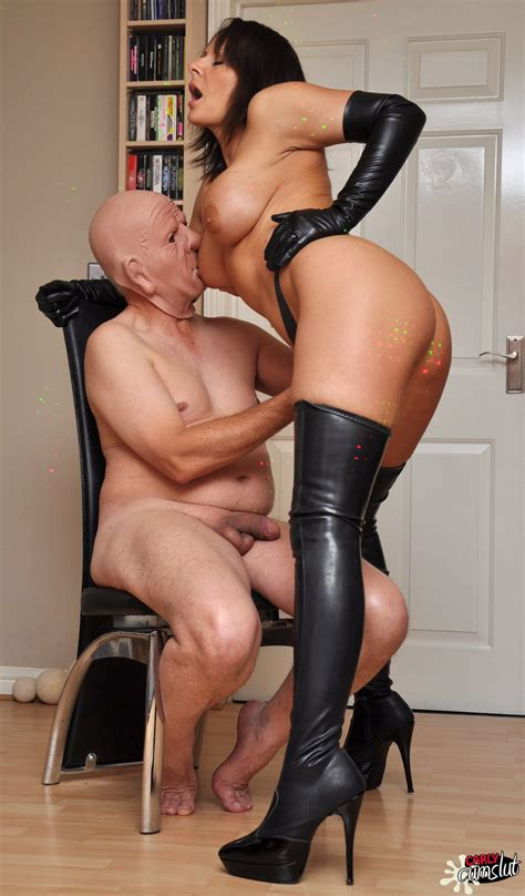 carly Cum Slut fuck In Leather Gloves And Boots clothing seduction
