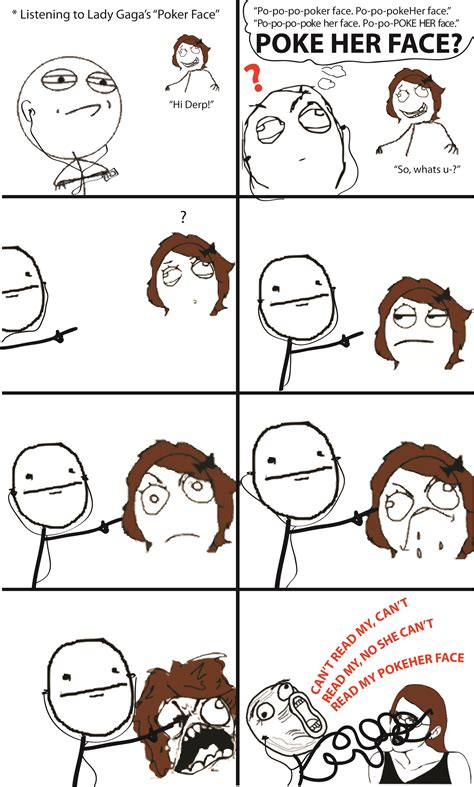 Meme Comic Face - poke her face rage comics know your meme
