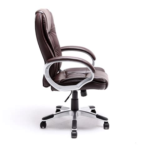 white executive desk chair black brown white pu leather modern executive computer