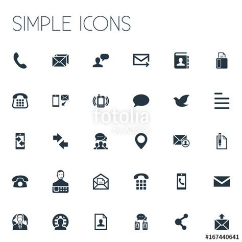 12262 resume contact icons quot vector illustration set of simple contact icons elements