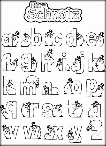 Coloring Alphabet Pages Abc Letters Funny Preschoolers
