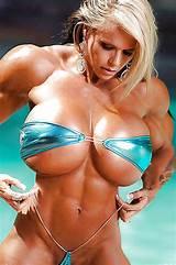 Big tit female muscle freaks