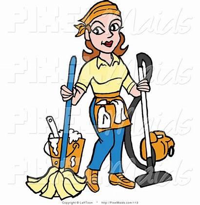 Housekeeper Cleaning Clipart Cartoon Housekeeping Cleaner Vacuuming