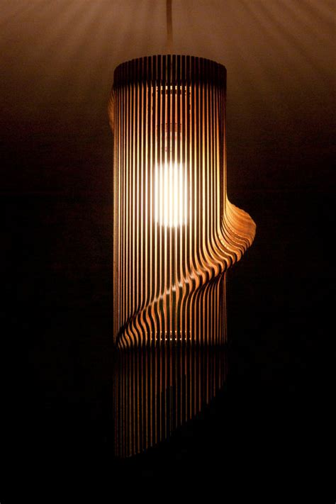 Laser Cut L Shade by Twisted Lasercut Wooden Lshade No 1