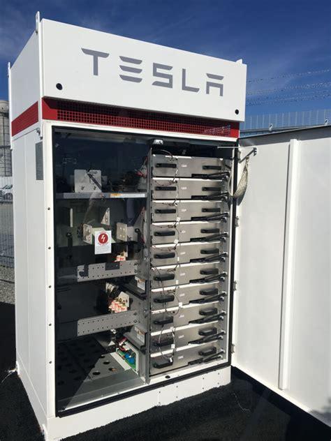 teslas grid connected powerpack station    california techspot