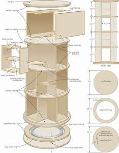 rotating bookcase woodworking plans - WoodShop Plans