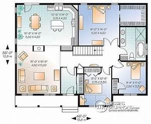 plan de maison 3 chambres salon 10 individuelle plain pied With plan de maison 3 chambres salon
