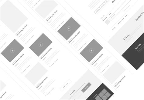 Axure Tablet Template Axure Responsive Template Website 4