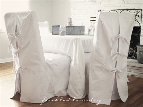 custom shabby chic parsons dinning chair covers in white