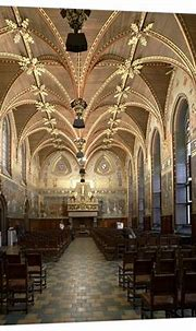 Gothic Hall of Bruges City Hall, Interior, Wooden Dome ...