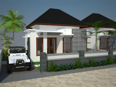 contoh gambar desain eksterior rumah sederhana minimalis