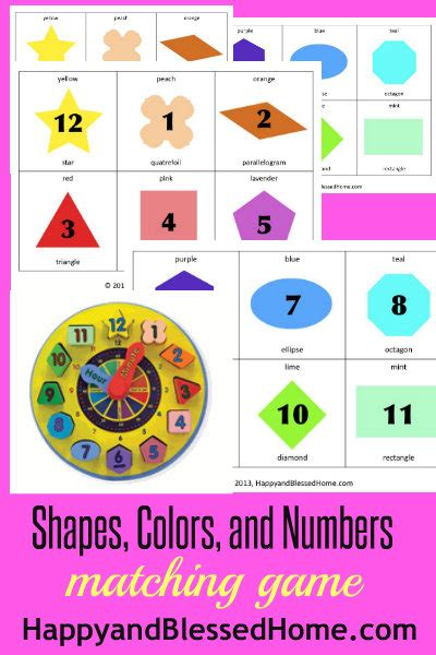 preschool colors and shapes preschool activities shapes colors and numbers matching 129