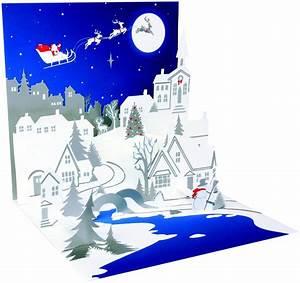 Pop Up Karte Weihnachten : pop up 3d weihnachten karte popshot weihnachts silhouette blau 13x13 cm 507447 ~ Buech-reservation.com Haus und Dekorationen