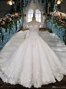 Discount Luxury Bridal Dress With Long Train Ball Gown