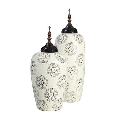 vaso bianco vaso tibor orientale bianco nero vasi orientali