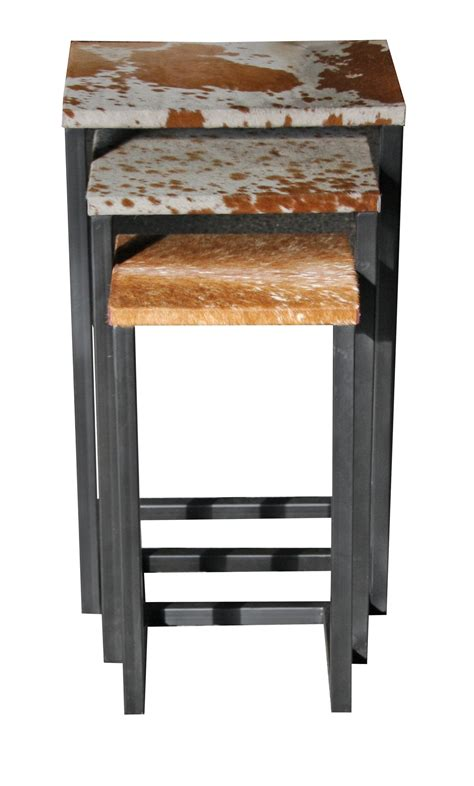 Cowhide Store by Cowhide Nest Of Stools Tables From Bimbo Store