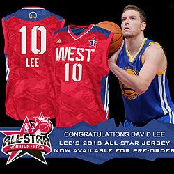 david lee named  nba western conference  star team