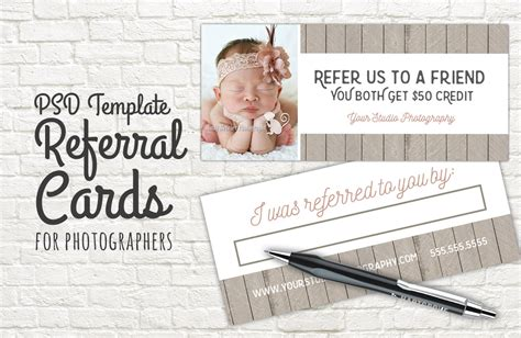 referral card template photography templates  creative