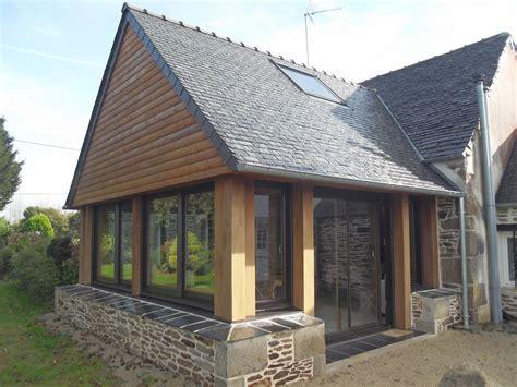 extension en bois d une maison construction maison en bois menuiserie bois extension bois 224 plourin l 232 s morlaix pr 232 s de