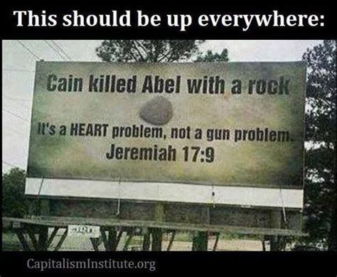 It's a Rock Cain Killed Abel with a Heart Problem Not a Gun Problem