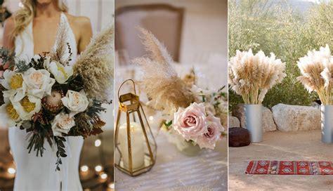 bohemian pampas grass wedding ideas  inspire