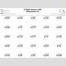 Division 2digit Answer With Remainder Worksheet For 4th  5th Grade  Lesson Planet