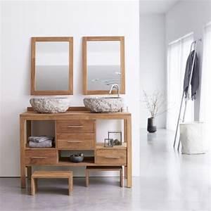 tikamoon meuble en teck de salle de bain sous vasque 120 With meuble salle de bain brut