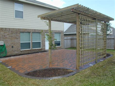 patio design sequence landscaping houston landscape