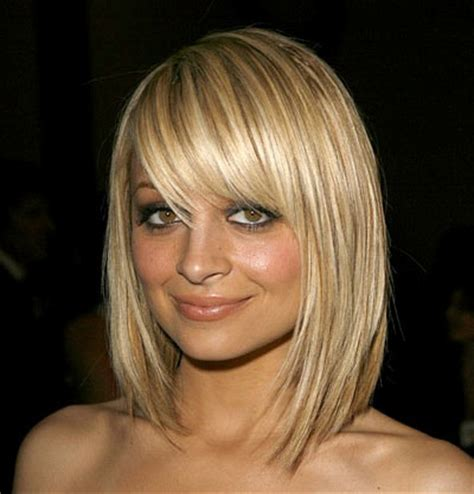 nicole richie side bangs casual everyday careforhair