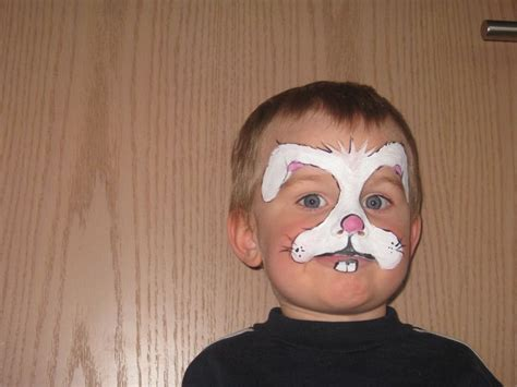 bunny rabbit face paint carnival party pinterest