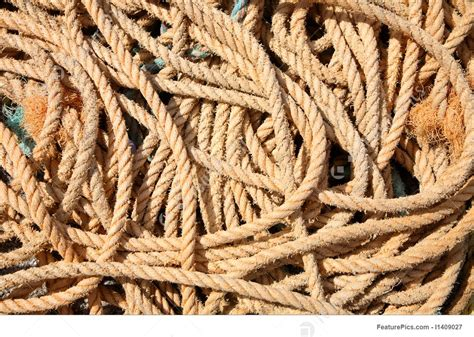 tools  supplies  pile   fishing boat rope