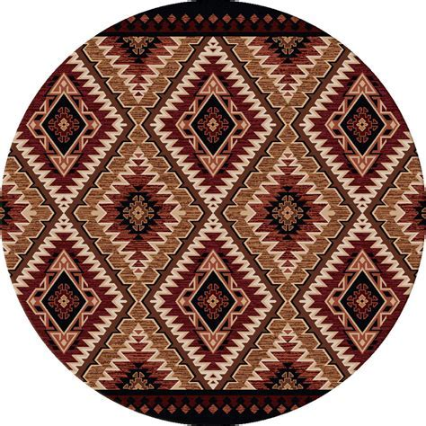 Southwest Rugs: 8 Ft. Round Traditions Gold Rug Lone Star