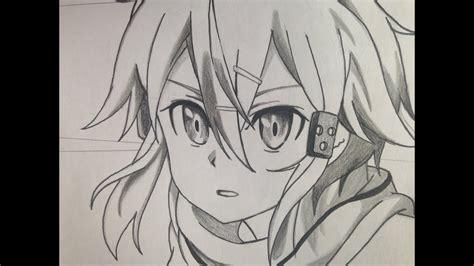 draw sinon  sword art   diy drawing