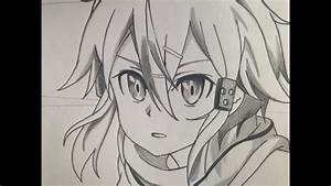 How To Draw Sinon  Step By Step Tutorial  Sword Art Online