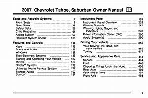 2007 Chevrolet Suburban Owners Manual